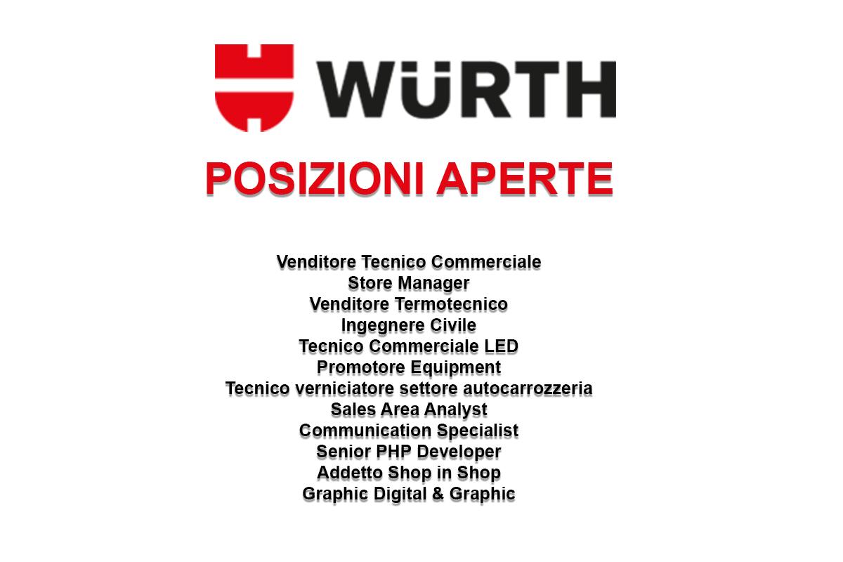 Wurth posizioni aperte workisjob - Posizioni nuove a letto ...