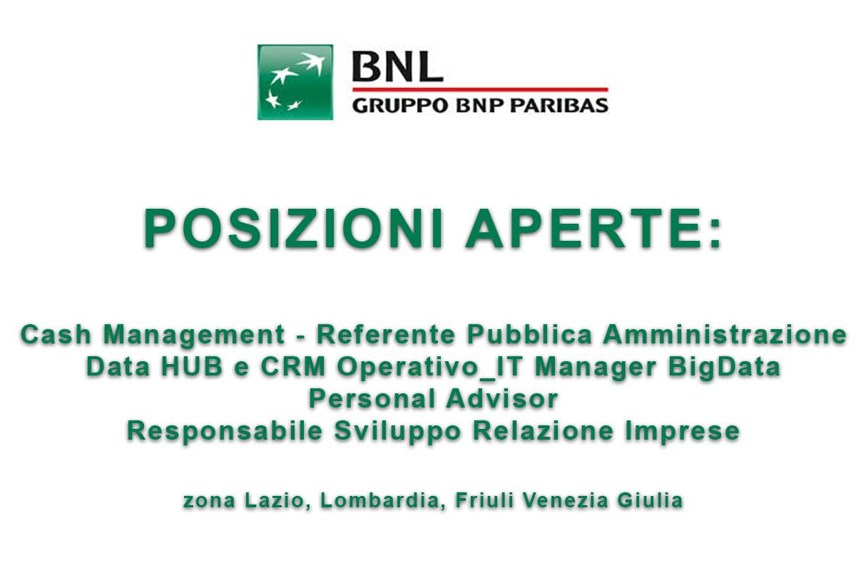 BNL RICERCA PERSONALE