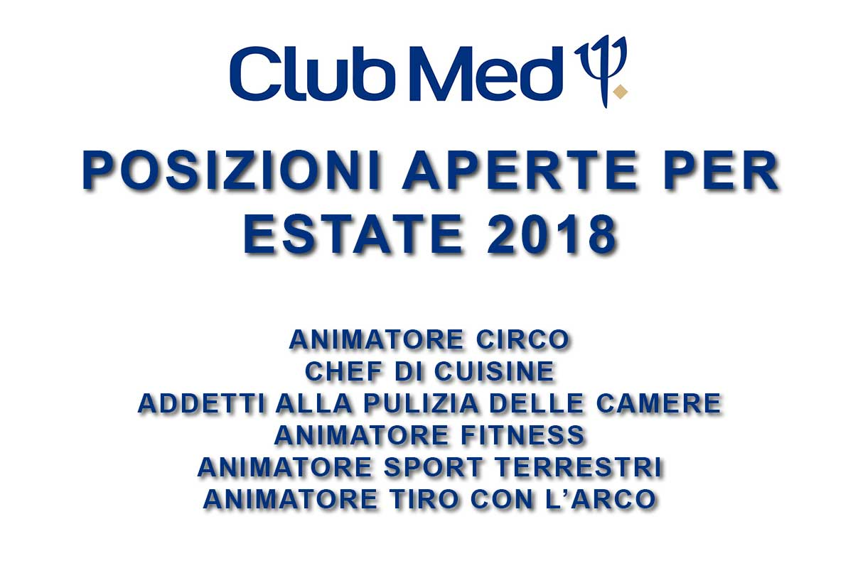 CLUB MED RICERCA PERSONALE