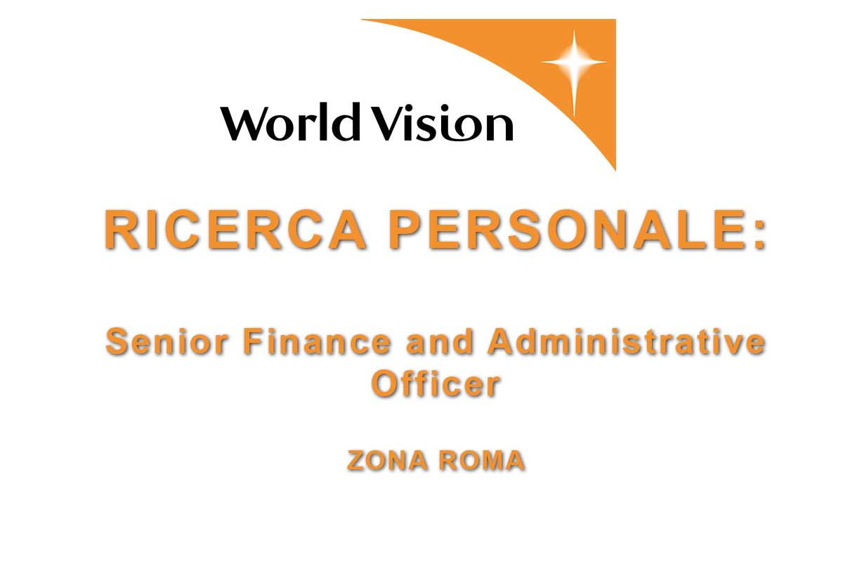 WORLD VISION RICERCA Senior Finance and Administrative Officer