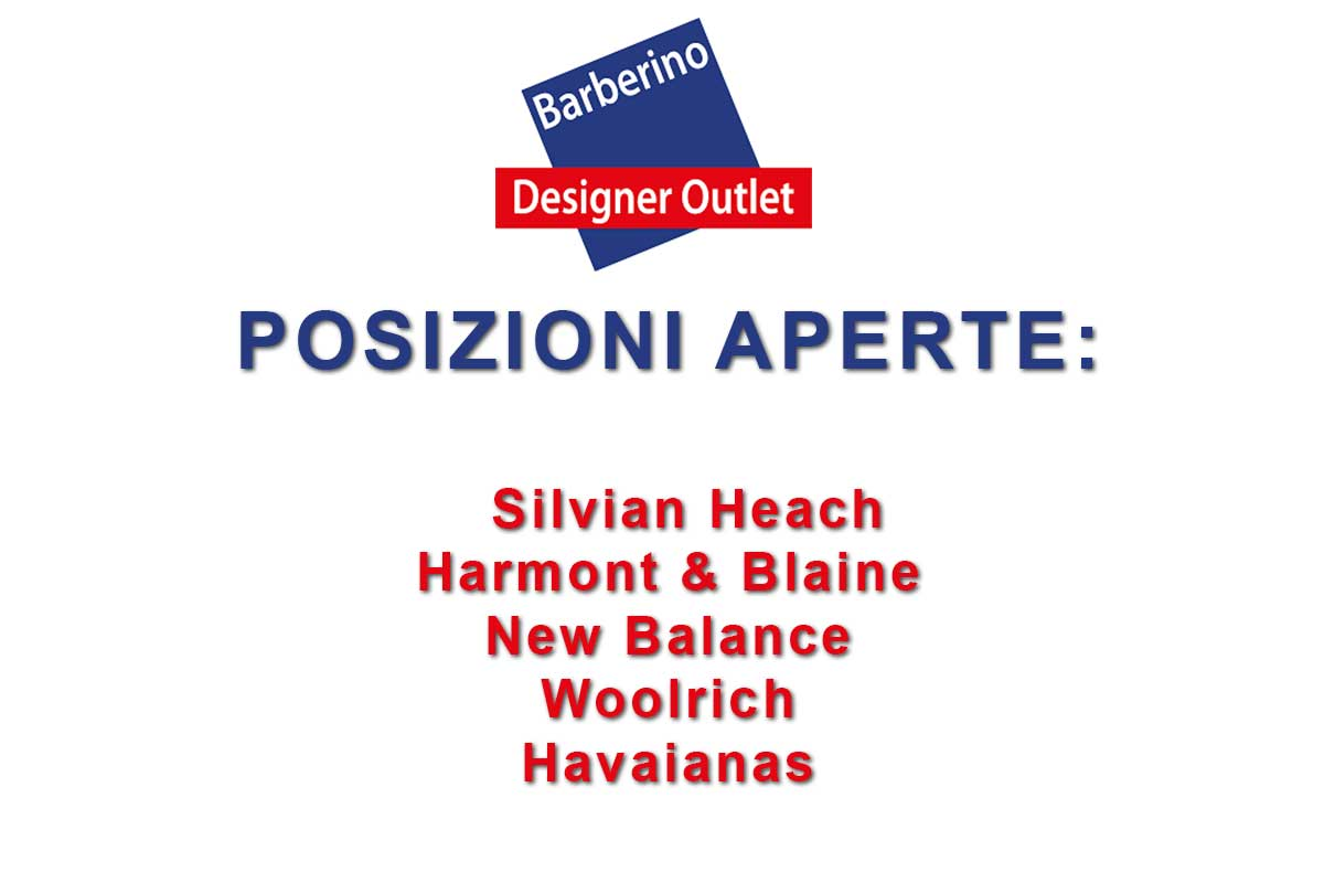 BARBERINO DESIGN OUTLET RICERCA PERSONALE