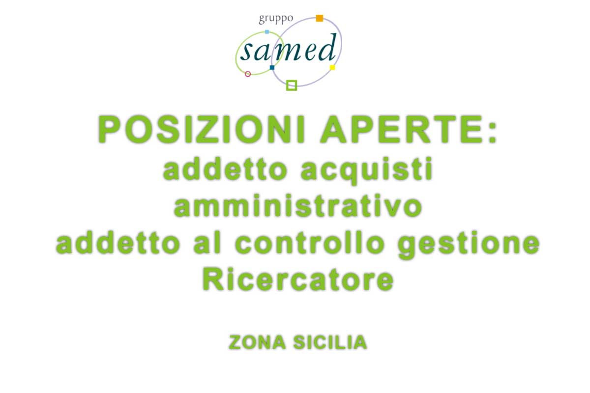 SAMED RICERCA PERSONALE