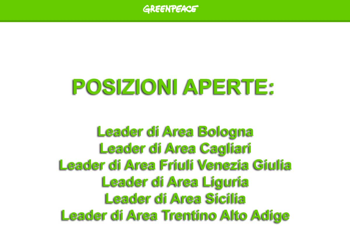 GREENPEACE RICERCAPERSONALE