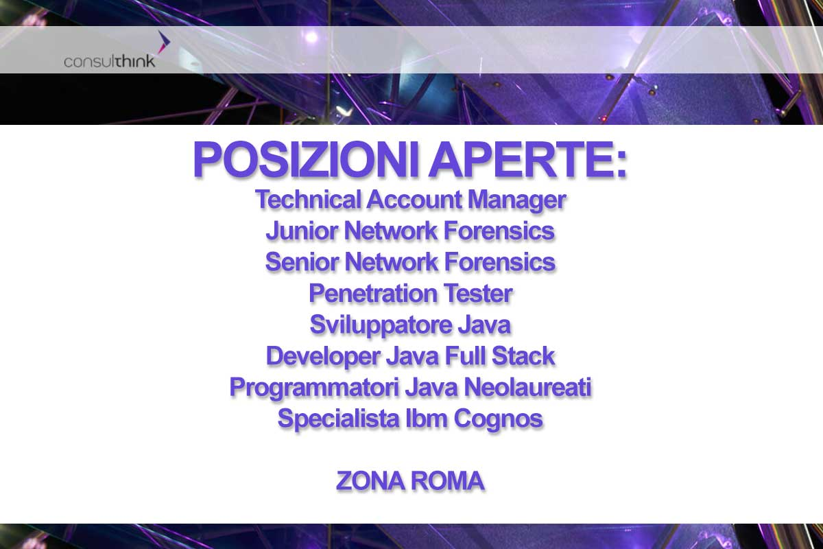 CONSULTHINK RICERCA PERSONALE