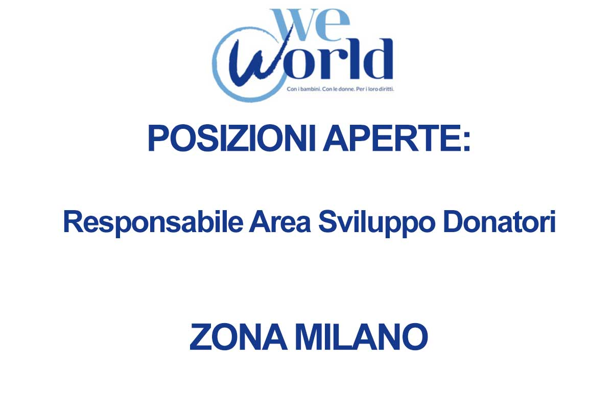 WE WORLD RICERCA PERSONALE
