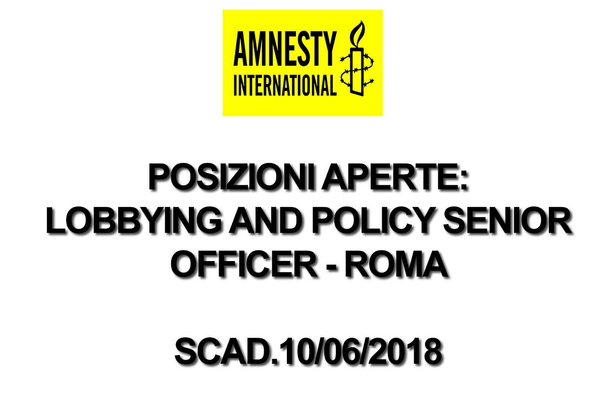AMNESTY RICERCA PERSONALE