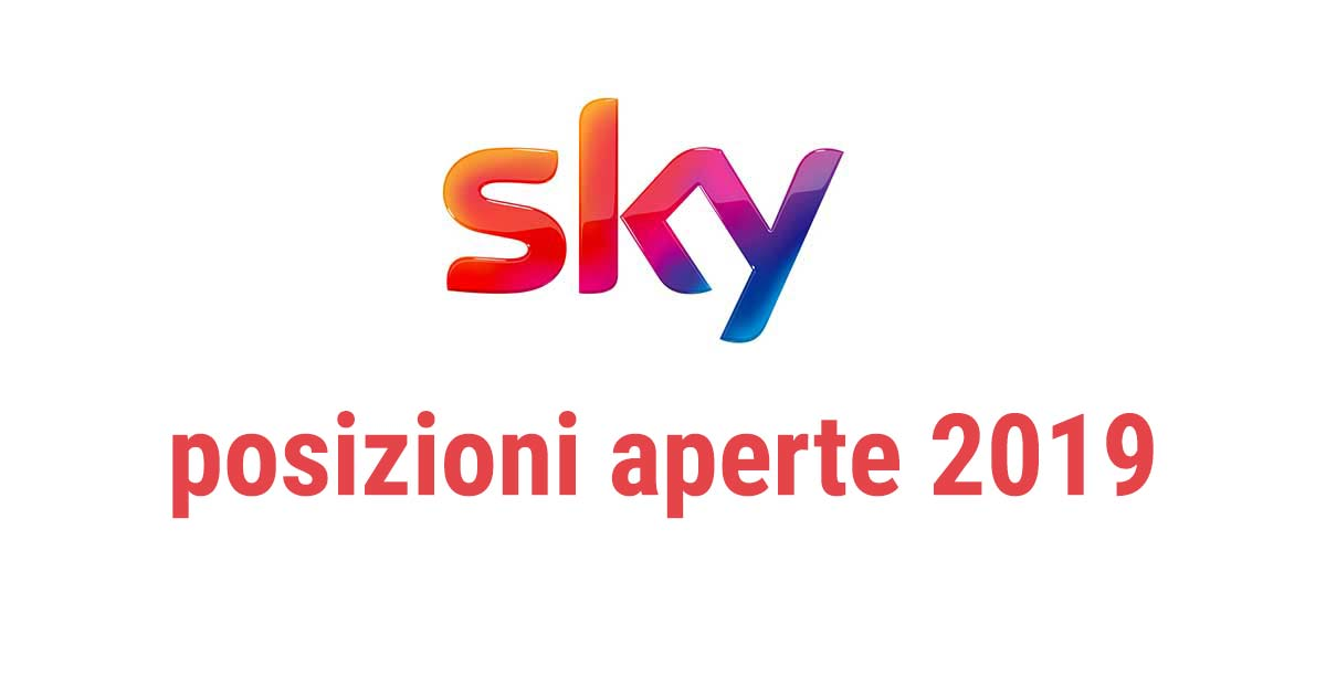 SKY RICERCA PERSONALE 2019
