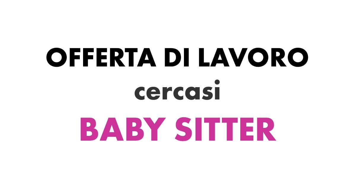 Cercasi Baby Sitter Nuova Offerta Di Lavoro Workisjob
