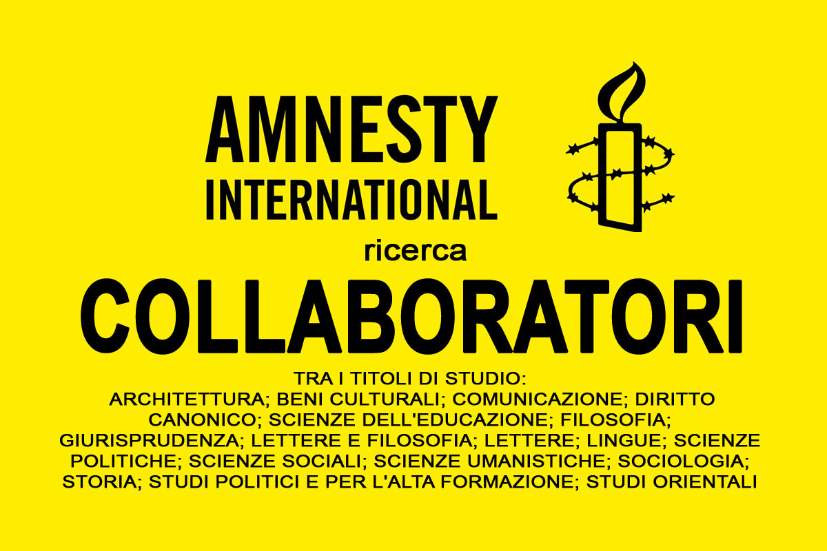 GIOVANI COLLABORATRICI E COLLABORATORI PER AMNESTY INTERNATIONAL A ROMA