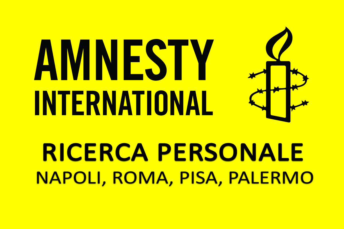 Amnesty International ricerca PERSONALE