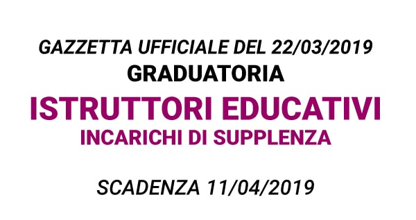 Graduatoria Istruttori Educativi per incarichi di supplenze Comune di Trieste
