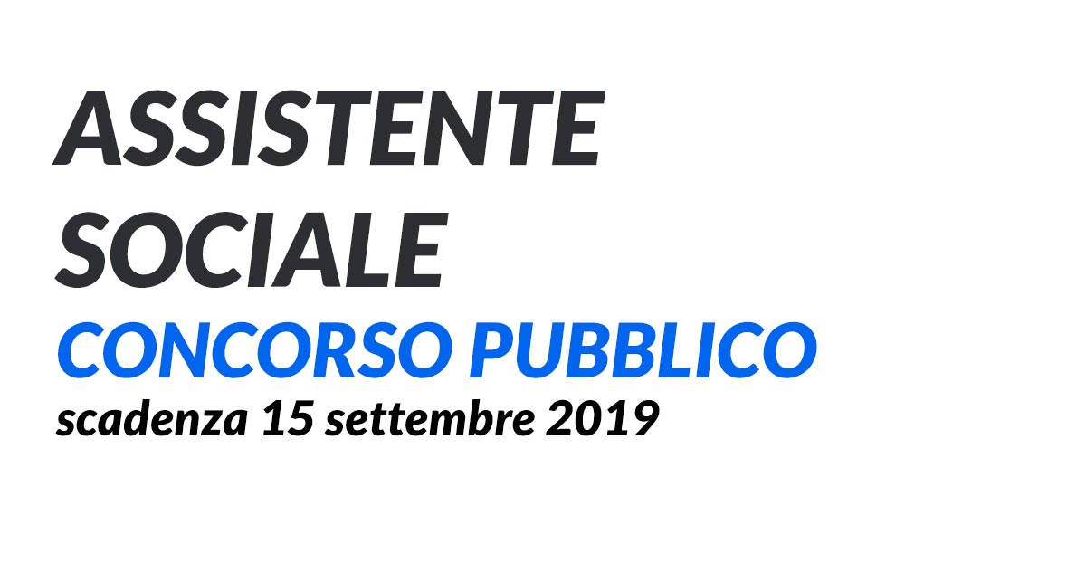 ASSISTENTE SOCIALE CONCORSO GALLIPOLI 2019