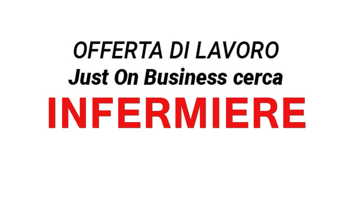 Just On Business cerca INFERMIERE OTTOBRE 2019
