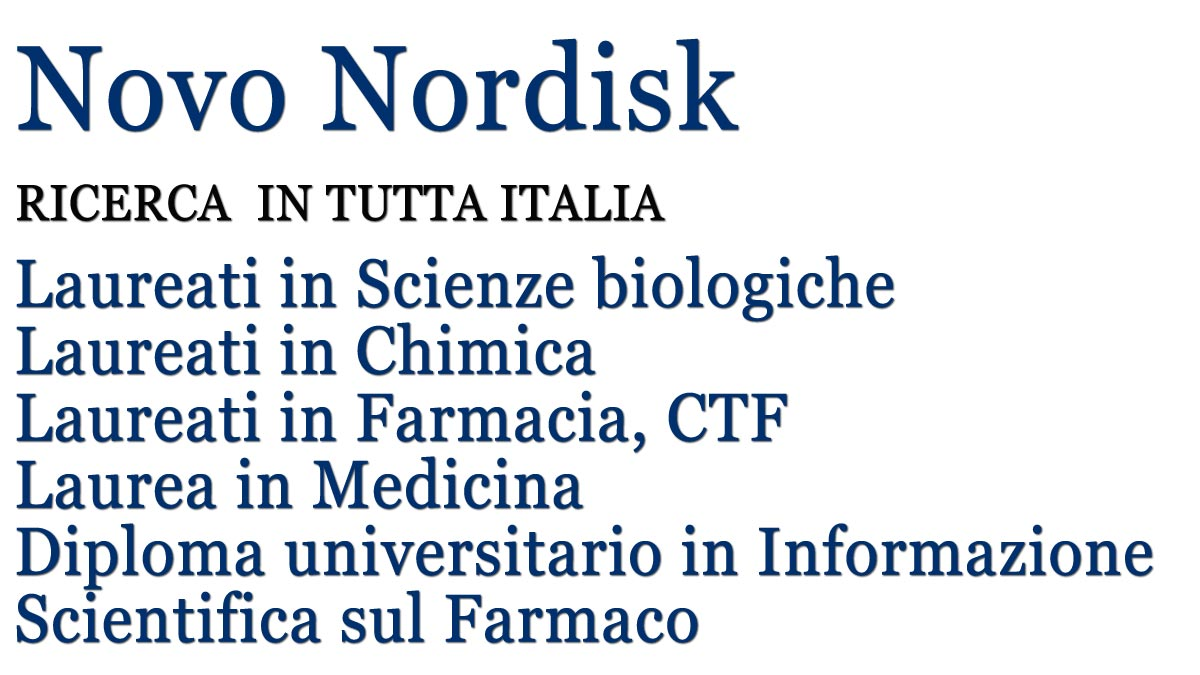 Novo Nordisk ricerca Junior Diabetes Representative in tutta Italia