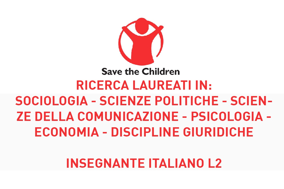 OFFERTE di LAVORO in SAVE THE CHILDREN