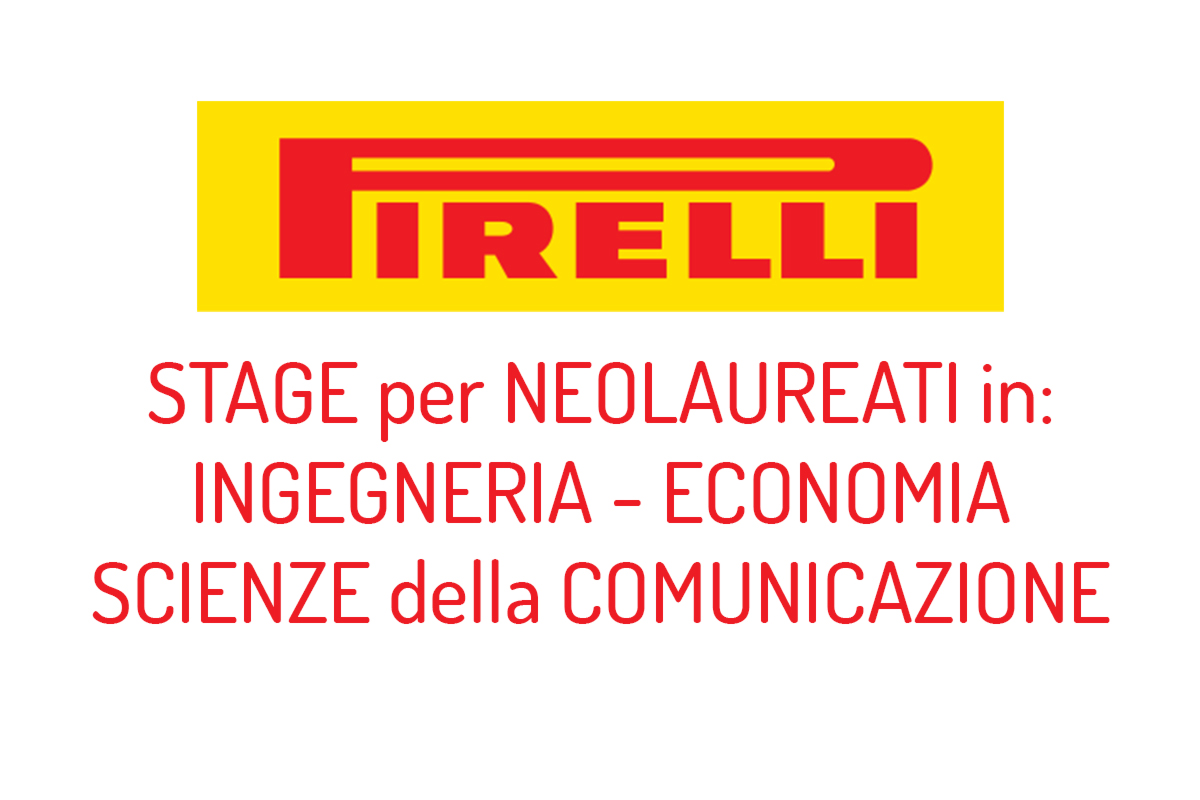 Stage per LAUREATI in PIRELLI
